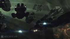 Valkyrie and Other Ships in Blood and Chrome Ghost Fleet