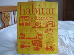 1970s Habitat paper carrier bag.How many first homes were furnished by Habitat...forerunner of Ikea.