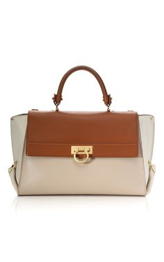 iComprar Bolso Tote grande en tres tonos color almendra Salvatore Ferragamo - Venta privada de Ready-to-Wear en Moda Operandi | Moda Operandi