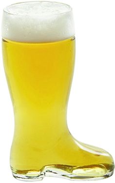 For the perfect individual-use beer boot, choose this glass boot from Stolzle, an internationally recognized name in glassware. A humorous prank, the boot forms a vacuum bubble at the end of the glass unless tilted properly. The result is a splash of beer to the face at the end of the beverage for unwary guests.