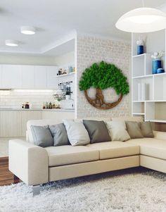 Moss Wall Art, Moss Art, Diy Wall Art, Living Room Decor, Living Spaces, Bedroom Decor, Living Rooms, The Sims, Moss Decor