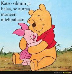 Katso silmiin ja... Disney Winnie The Pooh, Winnie The Pooh Drawing, Winnie The Pooh Pictures, Winne The Pooh, Winnie The Pooh Quotes, Cute Disney Wallpaper, Cartoon Wallpaper, Pooh Bear, Tigger