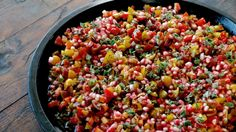 Ottolenghi - Recipes - Tomato and pomegranate salad with garlic dressing