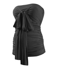 Take a look at this Caviar Black Maternity Tube Top by Isabella Oliver on #zulily today! $39.99