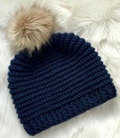 Knit Look Crochet Hat Pattern - Crochet Beanie Pattern 0e6bf5e5bfc6