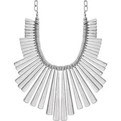Lucky Brand Sculpted Bib Necklace (€90) ❤ liked on Polyvore featuring jewelry, necklaces, accessories, silver, lucky brand jewelry, silver jewelry, bib necklace, silver jewellery and silver bib necklace
