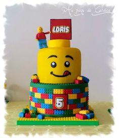 Beautiful Photo of Ninjago Birthday Cake - Birthday Cake Pictures - Lego Lego Themed Party, Lego Birthday Party, 6th Birthday Parties, Birthday Cupcakes, Themed Parties, 8th Birthday, Lego Torte, Lego Cake, Lego Head Cake