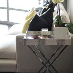Faux Python Tray Table, Contemporary, living room, Caitlin Wilson Design
