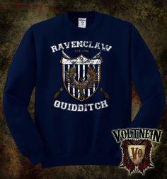 Ravenclaw Quidditch Team Crewneck Sweatshirt  Adult by VoltNein, $16.00