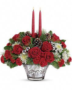 Teleflora arrangements, Teleflora bouquets, Christmas bouquets, Christmas flowers, flower delivery, Thomas Kinkade