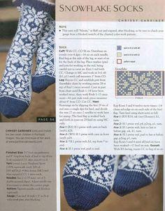 как вязать нарядные носки спицами - схема