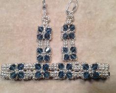 Classic Crystal Earrings and Bracelet Tutorial