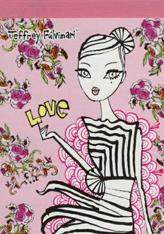 Jeffrey Fulvimari Small Memo Pad Love Rose