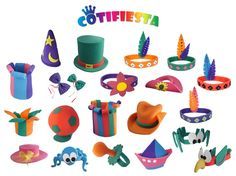En las fiestas siempre es una gran idea tener gorros divertidos a mano para los invitados, es una manera sencilla de crear una atmósfera festiva y alegre. En este pin se muestra como hacer sombreros y gorros en unos sencillos y divertidos pasos para realizarlos. Hat Crafts, Crazy Hats, Ideas Para Fiestas, Home Interior, Puppets, Alice In Wonderland, Arts And Crafts, Birthday Parties, Kids Rugs