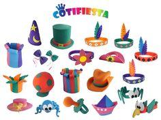 En las fiestas siempre es una gran idea tener gorros divertidos a mano para los invitados, es una manera sencilla de crear una atmósfera festiva y alegre. En este pin se muestra como hacer sombreros y gorros en unos sencillos y divertidos pasos para realizarlos.