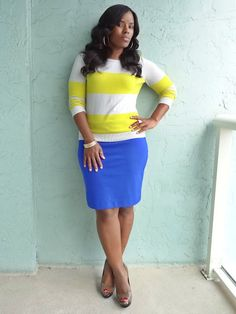 curvy fashion | what to wear to work, curvy girl fashion, color blocking, bright color ...