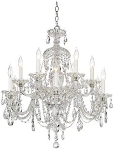 Schonbek 12-light crystal chandelier from Lamps Plus; $2,088. lampsplus.com