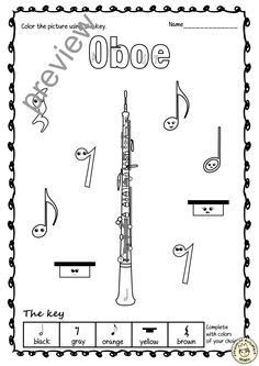 This set contains 15 designs of Woodwind Instruments (Bassoon Reed, Oboe Reed, Recorder, Bassoon, English horn, Oboe, Alto Saxophone, Tenor Saxophone, Baritone Saxophone, Clarinet, Bass Clarinet, Flute, Piccolo, Bagpipes, and Panpipe) in 3 different formats for coloring by notes, rests, music symbols and dynamics. #elmused #music #musicworksheets #Colorbymusic #musiceducation #Musiccoloring #MusicInstruments #AMStudio