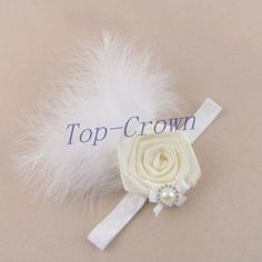 Baby Kid Girl Toddler Feather Hairband Headband Hair Accessories Ivory b37-3 #unbranded
