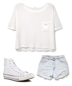"""""""Casual"""" by emcpheethwaites22 ❤ liked on Polyvore featuring MANGO and Converse"""
