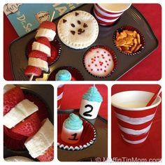 Not only is the Seuss theme cute, but I really like the general muffin tin idea.