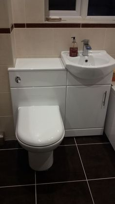 Attirant Combination Toilet And Basin Units Are A Cute Space Saving Idea For Small  Bathrooms