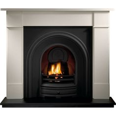 Gallery Brompton Stone Fireplace with Crown Cast Iron Arch Fireplace Fronts, Wooden Fireplace, Victorian Fireplace, Limestone Fireplace, Marble Fireplaces, Fireplace Inserts, Fireplace Surrounds, Fireplace Design, Fireplace Ideas