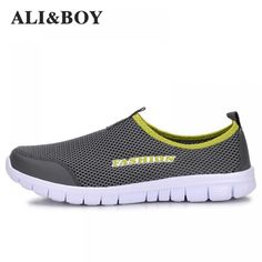 Fashion summer shoes men casual air mesh shoes large sizes lightweight breathable slip-on flats chaussure homme - myfashionly Summer Sneakers, Summer Shoes, Men's Sneakers, Casual Shoes, Men Casual, Dress Casual, Baskets, Business Casual Dresses, Mens Fashion Shoes
