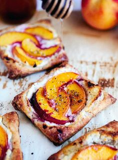 Peach Tarts with Goat Cheese and Honey