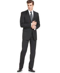 Calvin Klein suit in black wool