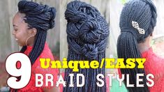 9 AMAZINGLY Unique box braid styles | 2018 - YouTube