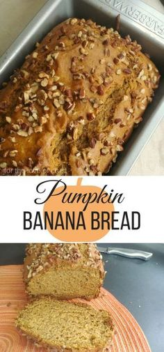 A Family Fall Favorite: Pumpkin Banana Bread. It's moist, rich in flavor, and perfect served alongside a hot cup of coffee on a cool fall morning.