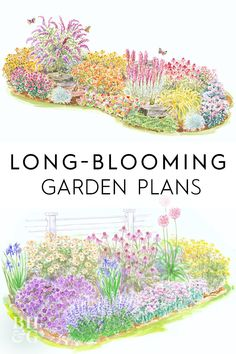 Enjoy three or four seasons of color and beauty throughout your yard with these 17 long-blooming garden plans gardenplans gardenplanslayout gardenlayout project printablegardenplan landscape bhg Perennial Garden Plans, Flower Garden Plans, Flower Garden Design, Flowers Garden, Flower Garden Layouts, Small Garden Plans, Front Yard Flowers, Flower Bed Designs, Flower Gardening