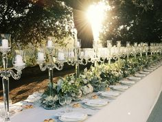 Imperial table decoration centerpiece with floral organic runner and crystal chandeliers Elegant Wedding, Floral Wedding, Wedding Flowers, Dream Wedding, Wedding Flower Decorations, Flower Garlands, Table Decorations, Wedding Table Setup, Wedding Reception