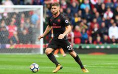Lataa kuva Shkodran Mustafi, jalkapallo, Arsenal, jalkapalloilijat, puolustaja, Gunners