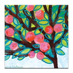 Red Apple by Anna Blatman Painting Print on Wrapped Canvas