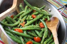 Tender Green Beans w/ Cherry Tomatoes & Basil