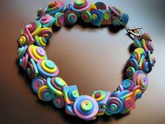Bracelet by maria theresia aka b.mariatheresia. Love the colors and fun of this piece.