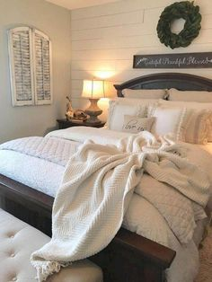 65+ Marvelous Farmhouse Bedroom Ideas #farmhouse #farmhousebedroom #bedroomideas Looking for master bedroom ideas should be prioritized on your interior wish list. #masterbedroom #bedroomideas #bedroomonabudget #smallbedroom #bedroomrustic #bedroomturquoise #bedroomforcouples #bedroomromantic #bedroomfarmhouse #bedroomcozy #bedroomluxury #bedroomrelaxing #bedroomgray #bedroomdiy #modernbedroom #neutralbedroom #bedroomblue #bohobedroom #bedroombohemian #ikeabedroom #Homedecorbedroom Farmhouse Master Bedroom, Master Bedroom Design, Home Decor Bedroom, Girls Bedroom, Bedroom Ideas, Bedroom Furniture, Bedroom Designs, Modern Furniture, Master Bedrooms
