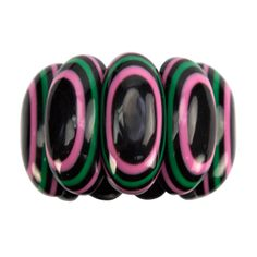 Banded Bracelet in Bakelite Celluloid | From a unique collection of vintage cuff bracelets at http://www.1stdibs.com/jewelry/bracelets/cuff-bracelets/