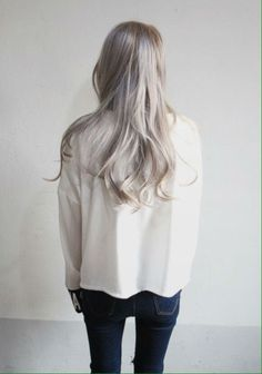 in love with this ash blonde