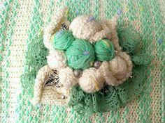 Делаем красивую брошь из пряжи необычным способом - Ярмарка Мастеров - ручная работа, handmade
