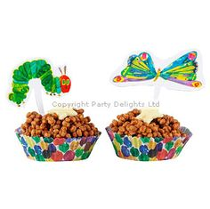 The Very Hungry Caterpillar PartyCake Cups and Toppers
