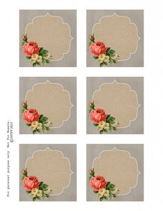 Free Autumn Rose Printable Tags and Labels!