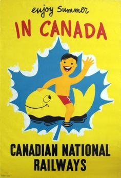 Original Vintage Posters -> Travel Posters -> Summer in Canada National Railways - AntikBar