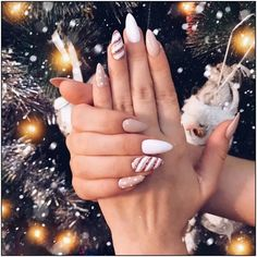 most popular trendy summer nails art designs ideas to look charming 10 ~ thereds.me Nails most popular trendy summer nails art designs ideas to look charming 10 ~ thereds.me Nails Chistmas Nails, Cute Christmas Nails, Xmas Nails, Christmas Nail Designs, Holiday Nails, Christmas Holiday, Christmas Acrylic Nails, Christmas Makeup, Christmas Trees
