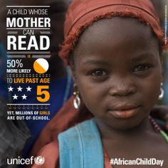 It´s a simple logic: More girls at school = More mothers who can read = More healthy babies. #educategirls #tailoredforeducation
