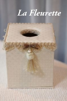 大人可愛いティッシュボックス♪ の画像|布のインテリア*La Fleurette の Diary