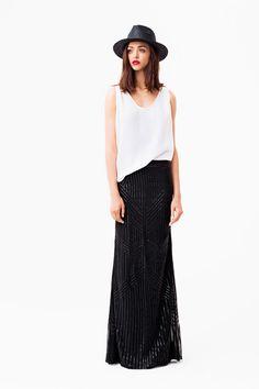 Rachel Zoe Resort 2014-love this clean lines black and white