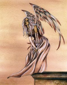 Angel Art by Amy Brown - Rose Angel